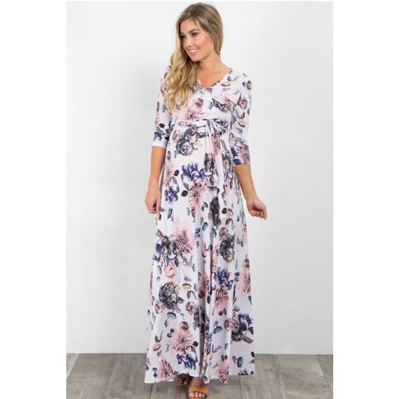 024cf4bc02a Pinkblush White Floral Sash Tie Maxi. M 5c78577eaa8770910c51df2a